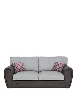 Very Moreno Faux Snakeskin And Fabric 3 Seater Standard Back Sofa Picture