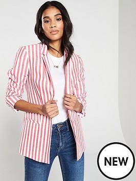 a4c927076a V by Very Stripe Linen Blazer
