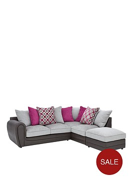 moreno-fauxnbspsnakeskin-and-fabric-right-hand-corner-chaise-scatter-back-sofa-footstool