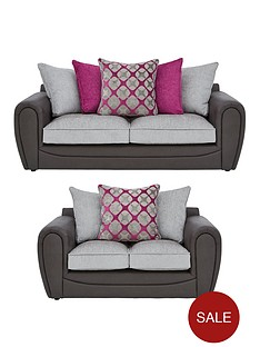 moreno-faux-snakeskin-and-fabric-3-seater-2-seaternbspscatter-back-sofa-set-buy-and-save