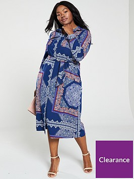 v-by-very-curve-printed-belt-shirt-maxi-dress-navy