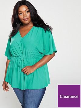 v-by-very-curve-kimono-sleeve-jersey-top-green