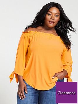 v-by-very-curve-jersey-crepe-long-sleeve-bardot-top-marigold