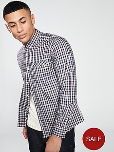 pretty-green-classic-fit-checked-shirt-white