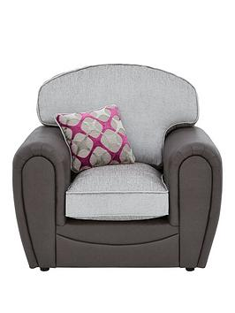 Very Moreno Faux Snakeskin And Fabric Armchair Picture