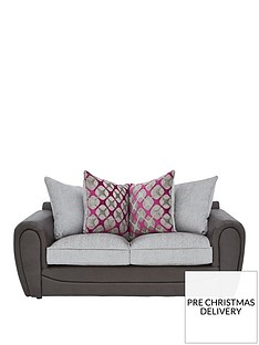 moreno-faux-snakeskin-and-fabric-scatter-back-sofa-bed