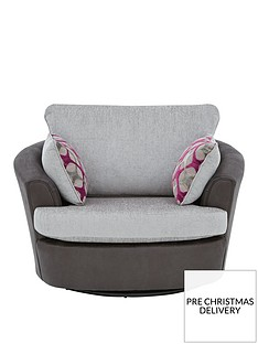 moreno-faux-snakeskin-and-fabric-swivel-chair