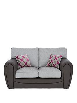 Very Moreno Faux Snakeskin And Fabric 2 Seater Standard Back Sofa Picture