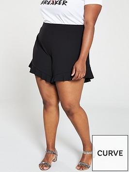 v-by-very-curve-jersey-crepe-flippy-shorts-black