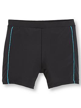 V by Very V By Very Boys Colour Trim Fully Lined Tight Swim Shorts - Black