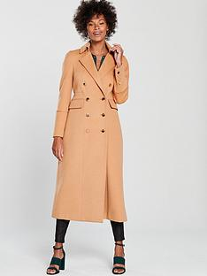 wallis-twill-maxi-double-breasted-military-coat-camel