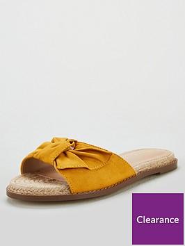 v-by-very-henrietta-knotted-bow-flat-espadrillenbspslider-yellow