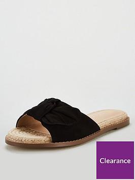 v-by-very-henrietta-knotted-bow-flat-espadrillenbspslider-black