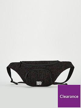 superdry-metallic-knit-zipper-buckle-bum-bag-black