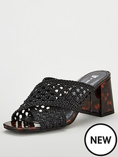 v-by-very-gia-cross-strap-weave-low-block-mule-sandals-black
