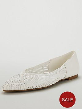 v-by-very-millie-basket-weave-point-flat-ballerina-white
