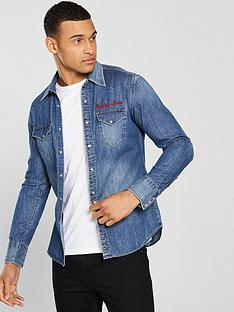 replay-jeans-embroidery-denim-shirt