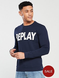 replay-logo-crew-sweatshirt--nbspmidnight-blue