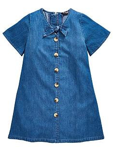 v-by-very-girls-denim-bow-button-front-dress-denim