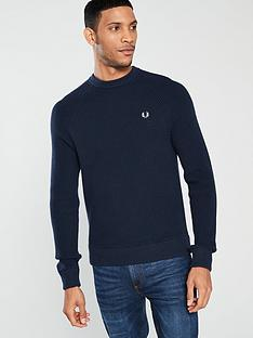 fred-perry-ribbed-crew-neck-jumper