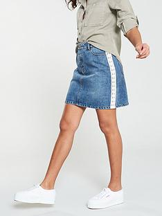 v-by-very-lace-side-seam-a-line-denim-skirt-mid-wash