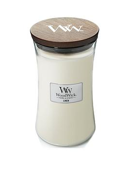 WoodWick Woodwick Large Hourglass Candle &Ndash; Linen Picture