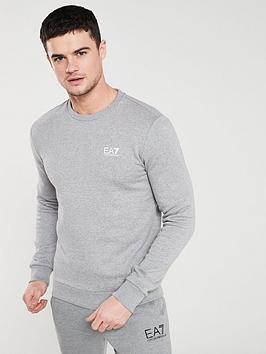 4a01b1e0 EA7 Emporio Armani Core Sweatshirt - Grey Melange | littlewoods.com