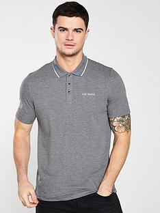 ted-baker-pique-polo-shirt-grey-marl