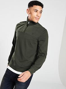 ted-baker-nylon-trim-half-zip-sweater-khaki