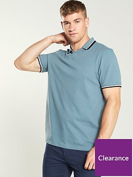ted-baker-flat-knit-polo-shirt-mid-blue