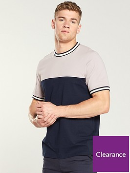 ted-baker-short-sleeved-panelled-t-shirt-dusky-pink