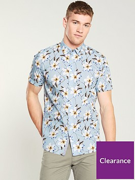 ted-baker-flower-print-sateen-shirt-light-blue