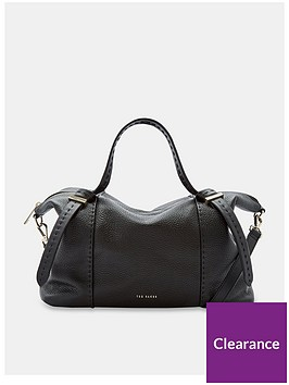 986c9ba55283a Ted Baker Oellie Knotted Handle Large Leather Tote Bag - Black ...