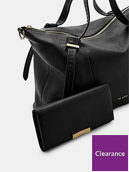 32a6c0857d185e ... Ted Baker Oellie Knotted Handle Large Leather Tote Bag - Black. View  larger