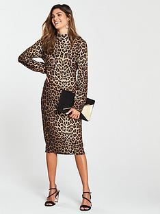 v-by-very-leopard-print-jersey-dress-printed