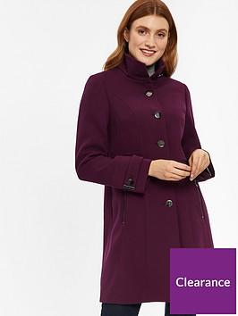 wallis-wallis-zip-pocket-double-crepe-funnel-coat-burgundy
