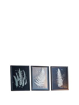 Gallery Gallery Gold Ferns Framed Wall Art &Ndash; Set Of 3 Picture