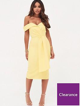 lavish-alice-lavish-alice-pleated-bardot-and-draped-belt-midi-dress