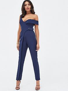 lavish-alice-buckle-trim-wrap-jumpsuit