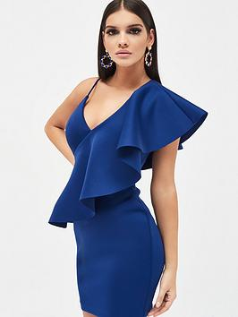 lavish-alice-exaggerated-one-shoulder-frill-scuba-mini-dress-navy