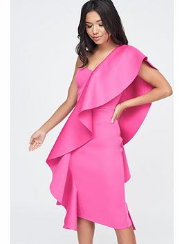 lavish-alice-exaggerated-frill-one-shoulder-scuba-midi-dress-pink