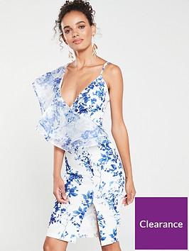 forever-unique-elsie-floral-print-ruffle-midi-dress-bluewhite