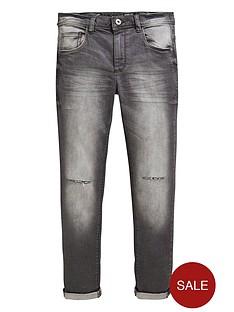 14efe85ff V by Very Boys 5 Pocket Rip Knee Distressed Wash Jeans - Grey