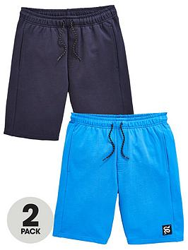 v-by-very-boys-2-pack-snake-jog-shorts-bluenavy