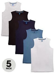 v-by-very-boys-5-pack-tank-tops-multi