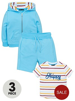 mini-v-by-very-boys-3-piece-happy-t-shirt-hoodienbspamp-shorts-set-blue