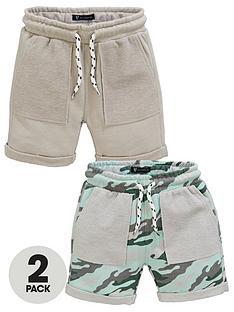 mini-v-by-very-boys-2-pack-textured-pocket-camo-shorts-multi