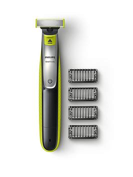 philips-philips-oneblade-hybrid-trimmer-shaver-with-4-x-click-on-stubble-combs-uk-2-pin-bathroom-plug-qp253025