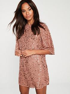 river-island-sequin-shift-dress-pink