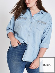 ri-plus-denim-embellished-shirt